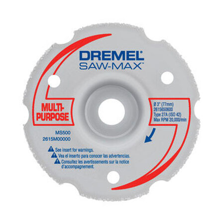 Dremel Saw-Max 3 in. Dia. x .075 in. thick Flush Cut Wheel