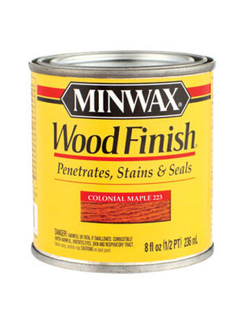 Minwax Wood Finish Transparent Oil-Based Wood Stain Colonial Maple 1/2 pt.