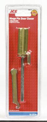 Ace Adjustable Hinge Pin Door Closer Brass