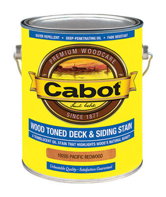 Cabot Wood Toned Transparent Oil-Based Deck and Siding Stain Pacific Redwood 1 gal.