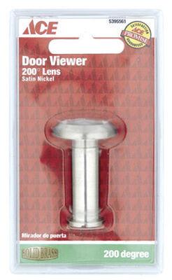 Ace Door Viewer Satin Nickel Solid Brass Fits Doors 1-1/2 in. to 2-1/8 in. Thick