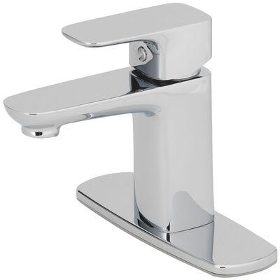 OakBrook Modena Moderna Single Handle Lavatory Pop-Up Faucet 2 in. Brushed Nickel