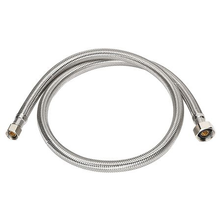 Ace 3/8 in. Compression x 1/2 in. Dia. FIP Stainless Steel Faucet Supply Line 48 in.