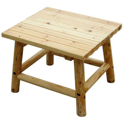"""Wooden Aspen End Table Wood 24"""" x 20"""" x 18"""""""