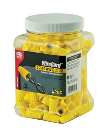 GB WireGard Wire Connectors Yellow 200 pk