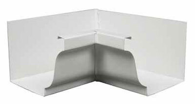Amerimax 5 L x 5 in. H x 7.5 in. W Aluminum K Inside Miter White