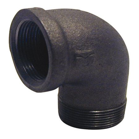 B & K 3/4 in. Dia. x 3/4 in. Dia. FPT To MPT 90 deg. Black Malleable Iron Street Elbow