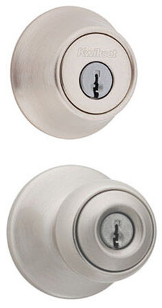 Kwikset Polo Entry Lockset 1-3/4 in. Satin Nickel 3 Grade Left Handed Right Handed