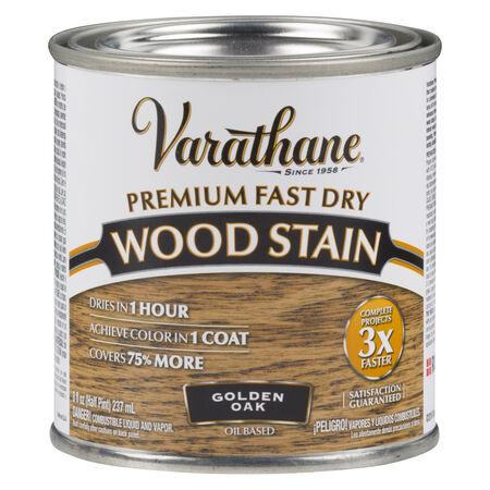 Varathane Semi-Transparent Golden Oak Oil-Based Urethane Modified Alkyd Wood Stain 0.5 pt.