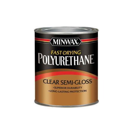 Minwax Semi-Gloss Clear Fast-Drying Polyurethane 1 qt.
