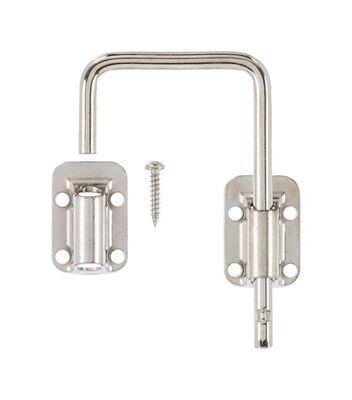 Ace Sliding Door Latch 2-1/2 in. Nickel Securing Metal or Wood Sliding Doors