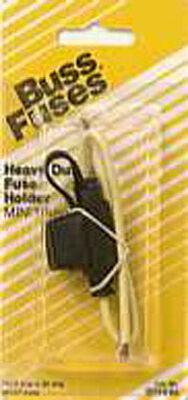 Buss 32 volts Black/Red In-Line Fuse Holder for ATM Fuses 1 pk