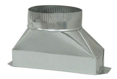Deflect-O Jordan 7 in. Dia. x 10 in. L Galvanized Steel Transition Metallic
