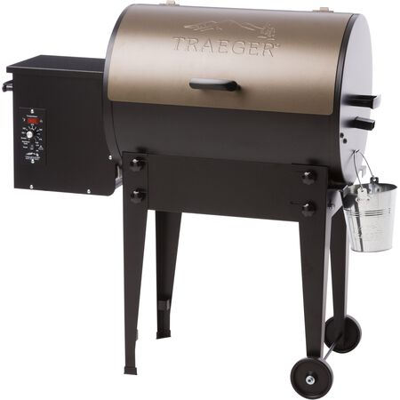 Traeger Tailgater 20 Traveler Series Wood Pellet 36 in. H Grill Bronze 19 500 BTU