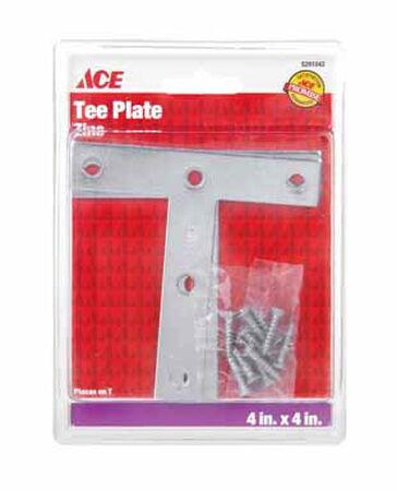 Ace Tee Plate 4 in. x 4 in. Zinc
