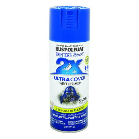 Rust-Oleum Painter's Touch 2X Ultra Cover Gloss Deep Blue Spray Paint 12 oz.