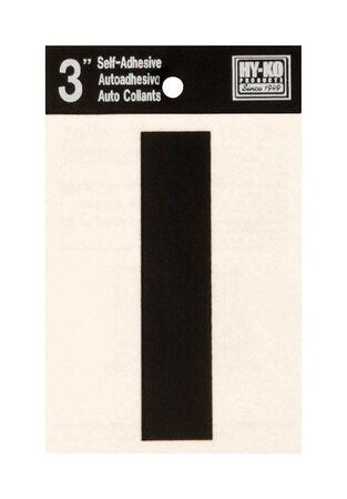 Hy-Ko Self-Adhesive Black 3 in. Vinyl Letter I