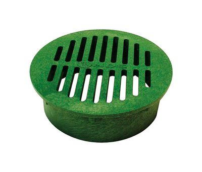 NDS 6 in. Green Polyolefin Round Drain Grate