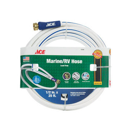 Ace 1/2 in. Dia. x 25 ft. L White RV/Marine Hose Safe for Drinking Water