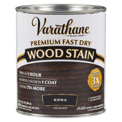 Varathane Premium Fast Dry Semi-Transparent Oil-Based Wood Stain Kona 1 qt.