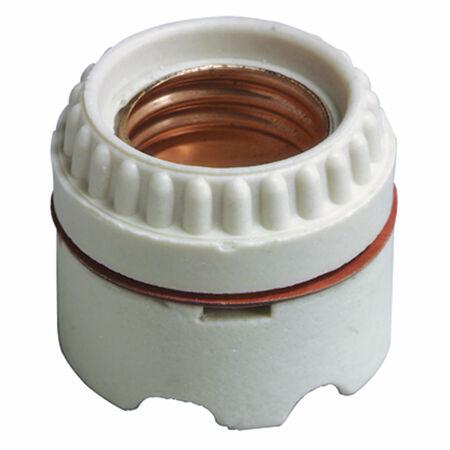 Leviton White 1.75 in. L x 1.39 in. H 1 pk Keyless Socket