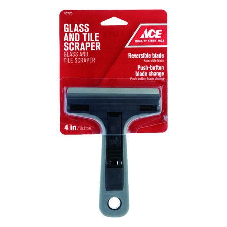 Ace 4 in. W Steel Reversible Glass Scraper