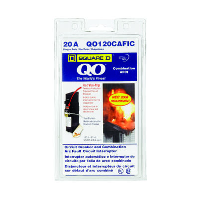 Square D QO Arc Fault/Single Pole 20 amps Circuit Breaker
