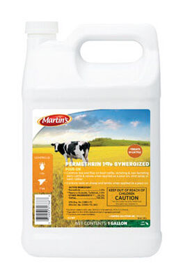 Martin's Permethrin 1% Synergized Pour-On Insect Killer For Biting Insects 1 gal.