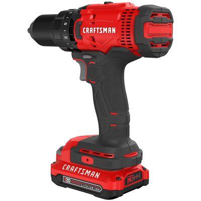 Craftsman 20V MAX 20 volt Brushed Cordless Drill/Driver Kit 1500 rpm 1/2 in. 280 UWO