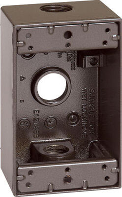 Sigma 4-1/2 in. H Rectangle 1 Gang Outlet Box 1/2 in. Bronze Aluminum
