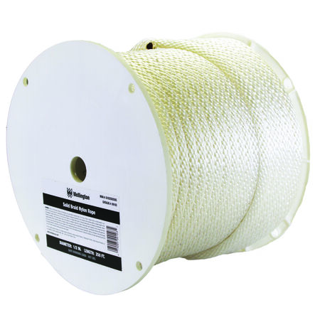 Wellington 1/2 in. Dia. x 250 ft. L Solid Braided Nylon Rope White