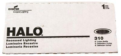 Halo 6 in. W White White Plastic 6 in. Coilex Baffle Trim