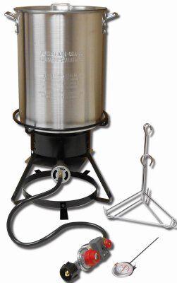 "King Kooker 1229 Propane Outdoor Cooker 12"" With 29-qt Aluminum Pot & Rack"