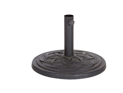 Bond Manufacturing Resin Stone Umbrella Base 13.18 in. H x 17.7 in. W Black