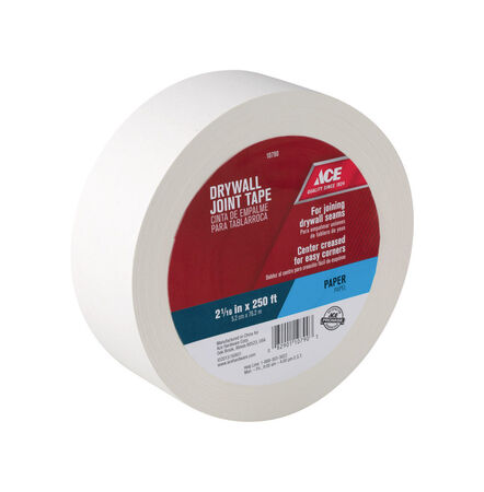 Ace 250 ft. L x 2.06 in. W Paper White Self Adhesive Drywall Joint Tape