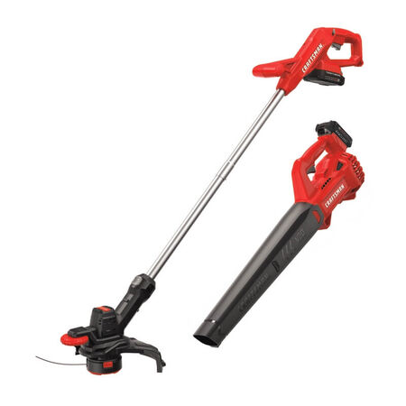 Craftsman Weedwacker 10 in. 20 volt Battery Trimmer and Blower Combo Kit Kit (Battery & Charger)