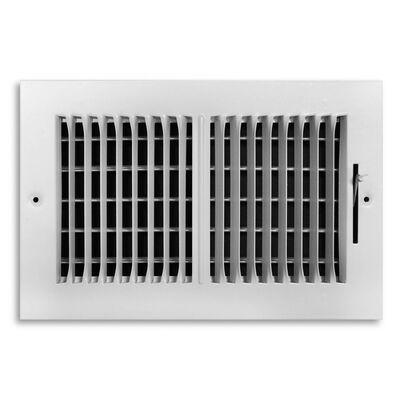Tru Aire 10 in. W x 4 in. H White Steel Ceiling Register