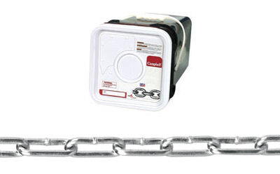 Campbell Chain Straight link Coil Chain 225 ft. L x 3/16 in. Dia. No. 2 Silver Carbon Steel