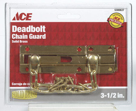 Ace 3.5 in. L Brass Dead Bolt Chain Guard