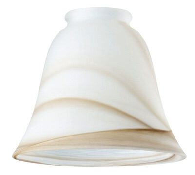 Westinghouse Bell Ivory Glass Fan and Fixture Shade 1