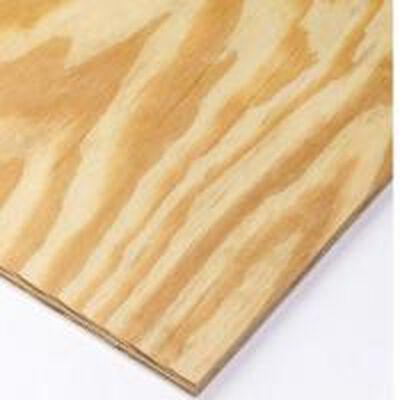 "Plywood BC Exterior Pine 4' x 8' x 1/4"""