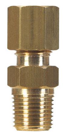 JMF 1/4 in. Compression Dia. x 1/8 in. MPT Dia. Brass Compression Connector