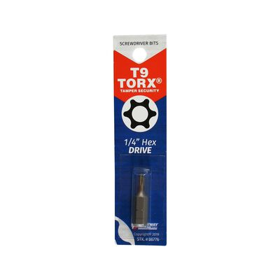 Best Way Tools T9 Torx Screwdriver Bit 1/4 in. Dia. x 1 in. L 1 pc.