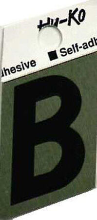 Hy-Ko Self-Adhesive Black 1-1/2 in. Aluminum Letter B