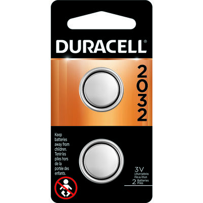 Duracell 2032 Lithium Watch/Electronic Battery 3 volts 2 pk