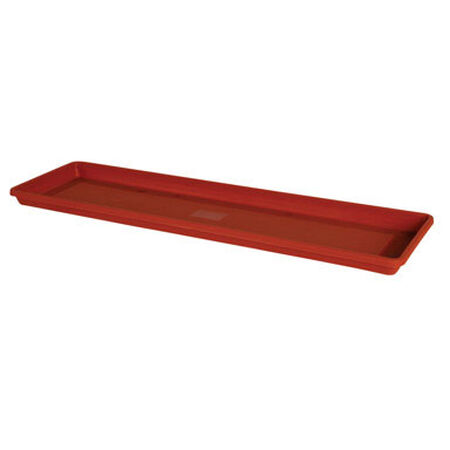 Bloem Terrabox Terracotta Clay Resin Traditional Tray 1.2 in. H x 24 in. W