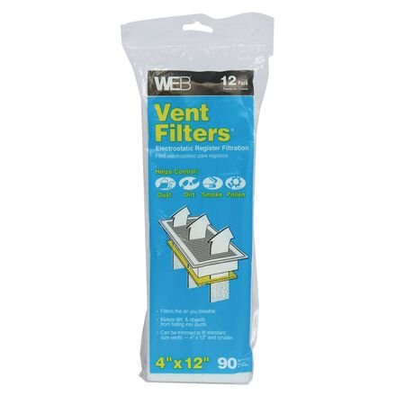 Web 12 in. L x 4 in. W Polyester Vent Filter