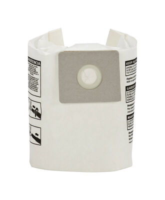 Shop-Vac Wet/Dry Vac Bag Type B 2-2.5 3 pk For Dry Pick Up Only