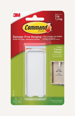 Command 3 lb. 1 pk Plastic Canvas Picture Hanger