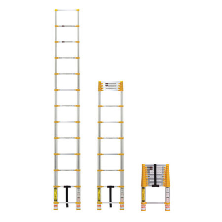Xtend & Climb Aluminum 12.5 ft. H Extension Ladder 225 lb. Type II